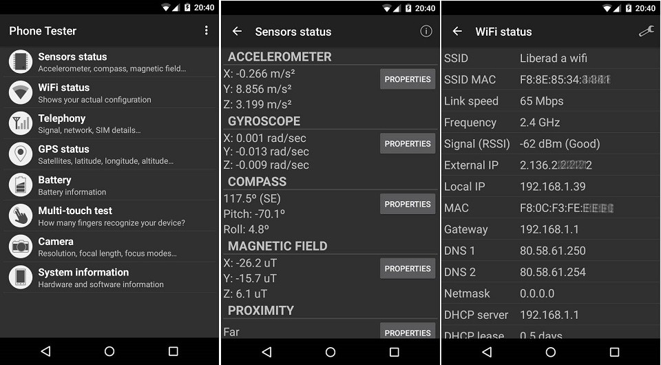 phần mềm kiểm tra điện thoại Android