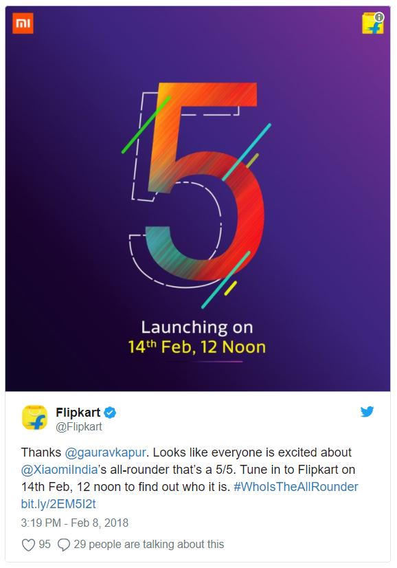 Xiaomi Redmi Note 5 sẽ được ra mắt vào ngày 14/2 tại Ấn Độ