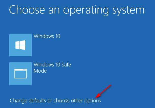 Từ màn hình chọn hệ điều hành