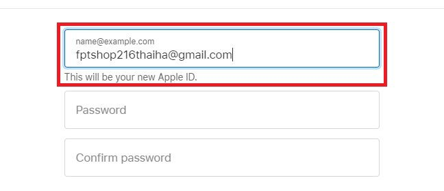 Tạo iCloud bằng tài khoản Gmail 1