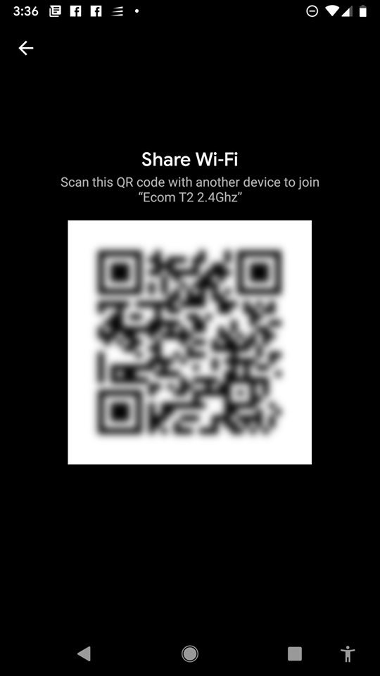 Android Q QR-code
