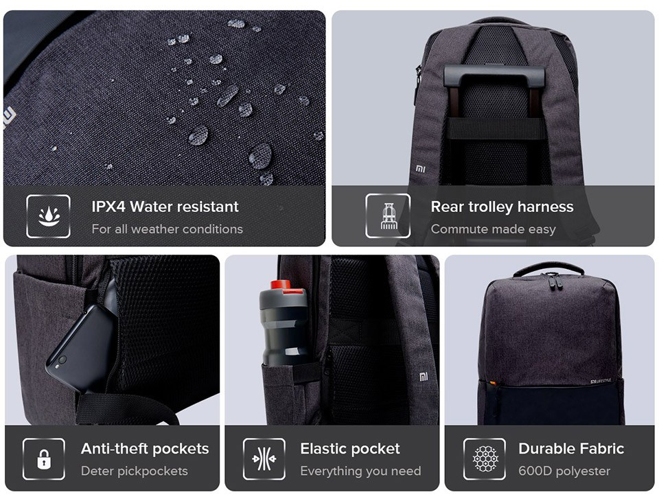 Xiaomi Mi Business Casual Backpack (ảnh 2)