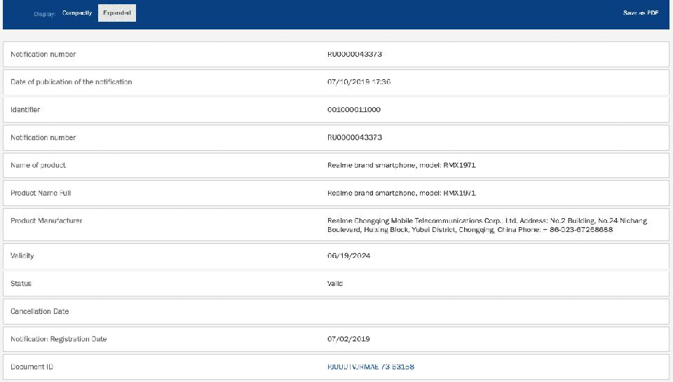 Realme 4 và Realme 4 Pro đạt chứng nhận EEC (ảnh 2)