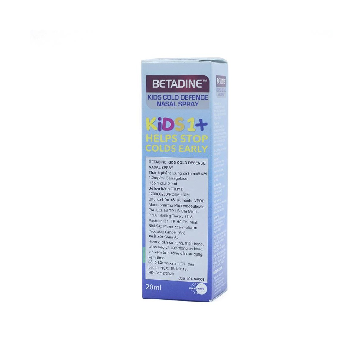Betadine Kids 1+ Nasal Spray 20Ml