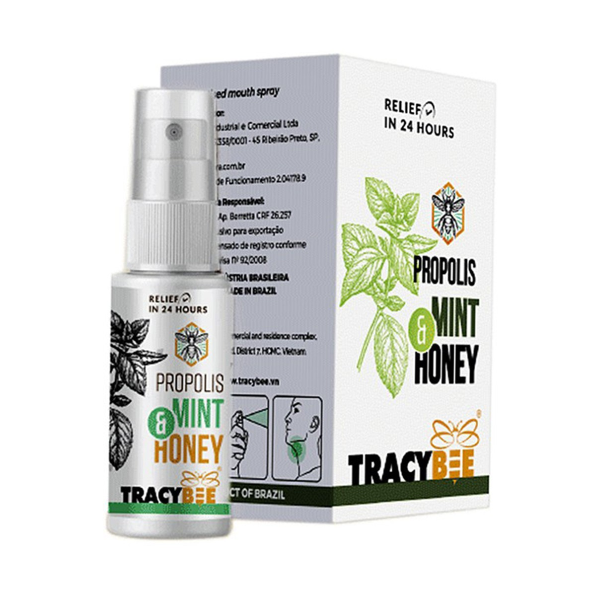 Keo Ong Tracybee Propolis Mint & Honey 30Ml