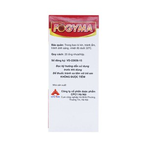 Fogyma Ống  20 Ống