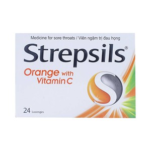 Strepsils Orange With Vitamin C 24 Viên