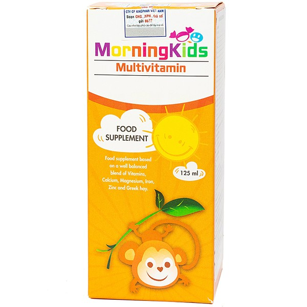 Siro Bổ Sung Vitamin Cho Trẻ Morningkids Multivitamin 125Ml