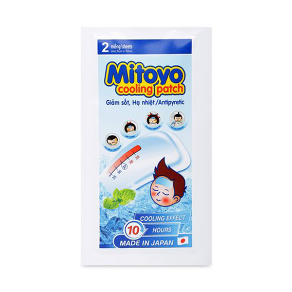 Miếng Dán Hạ Sốt Mitoyo Cooling Patch 8 Miếng