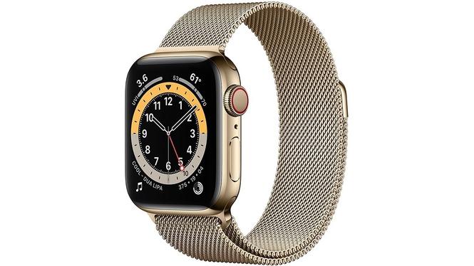 Apple Watch Series 6 GPS + Cellular 44mm viền thép dây thép